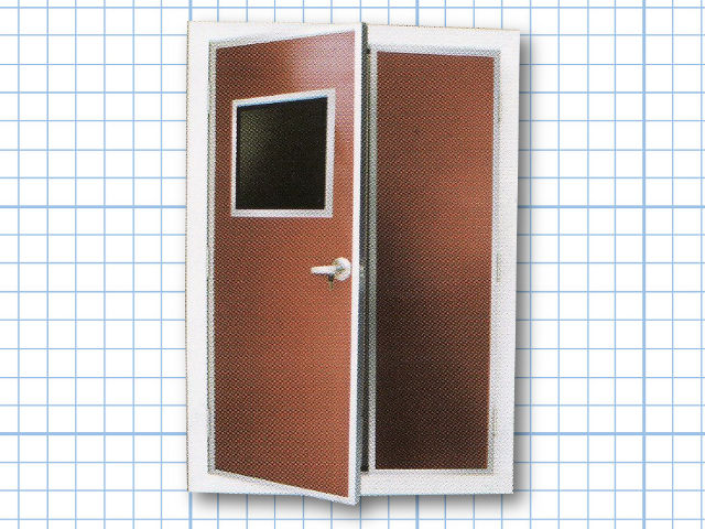 Pintu Aluminium Weather Tight Door Dua Daun Pintu Cv